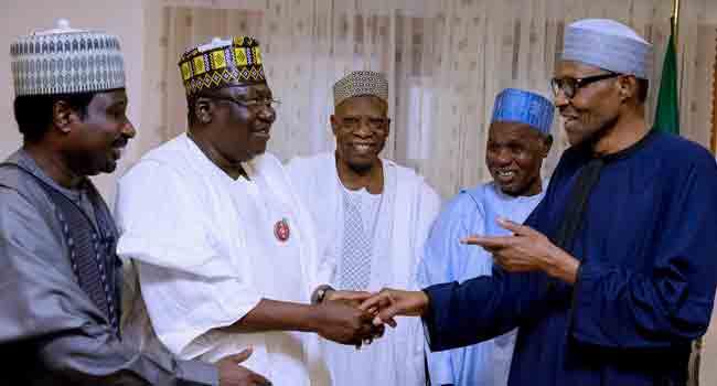 President Buhari Hosts Masari, Northern Senators In Daura