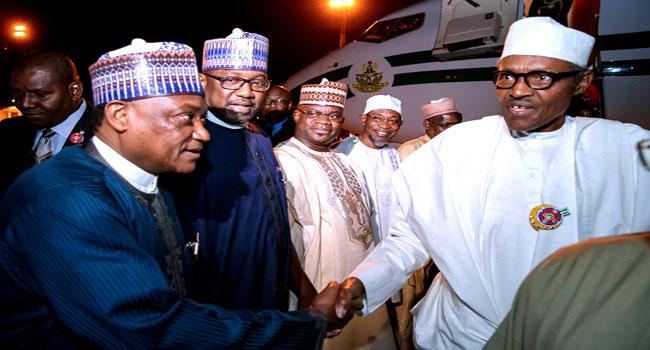 President Buhari Arrives In Jordan