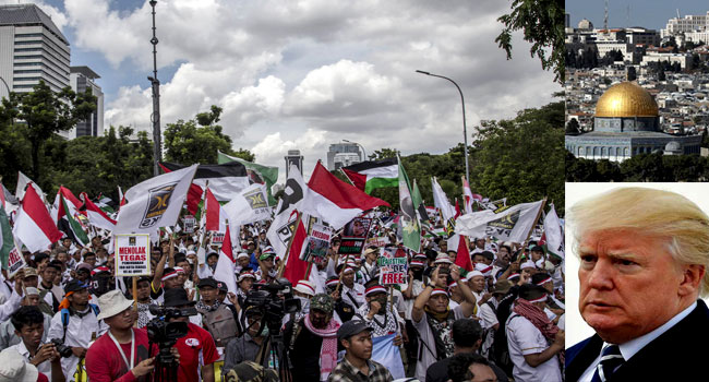 Indonesian Muslims Protest Against Trump's Jerusalem Move