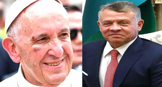 Pope To Meet Jordan King Abdullah