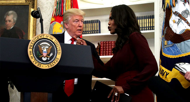 United States President Donald Trump and Omarosa Manigault