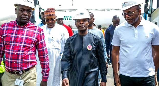 Fuel Scarcity: Osinbajo, Kachikwu's Visit To Oil Depots In Photos