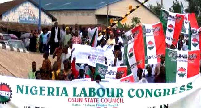 Osun NLC declares strike over half salary