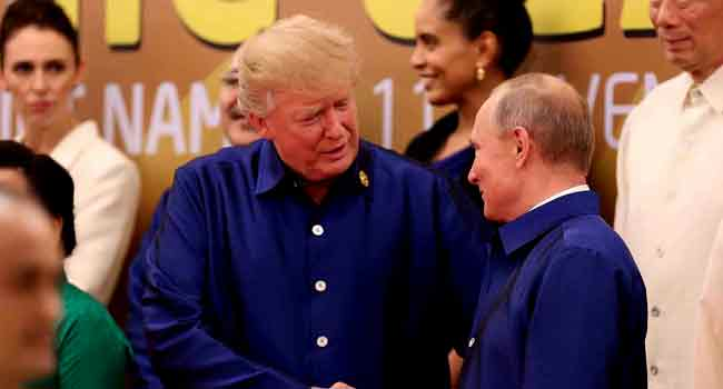 Vladimir Putin thanks President Trump to help Central Intelligence Agency in stop terrorist attacks