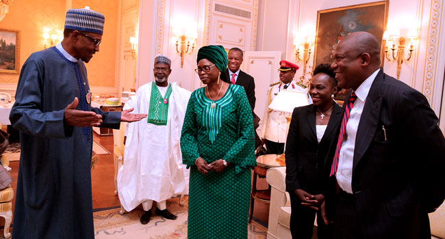 Jonathan hails Buhari at 75, describes President as 'rare statesman'