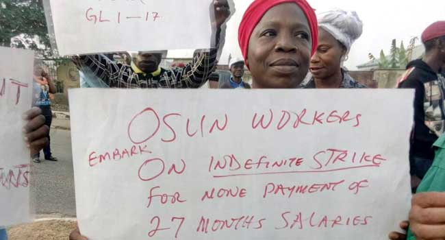 Osun Workers Takeover Secretariat In Protest