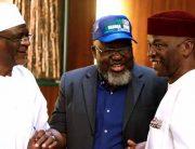 Minister Wears Buhari's Campaign Cap At FEC Meeting