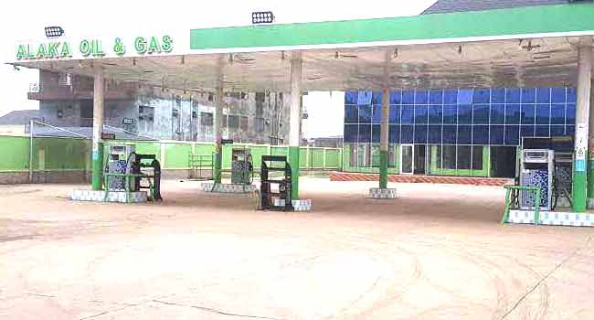 Image result for Lagos seals off suspected Badoo kingpin's Filling Station, Hotel, Event Centre