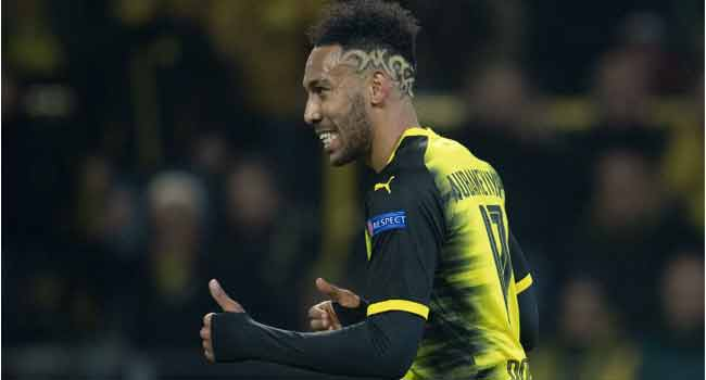 Aubameyang Joins Arsenal For Record Fee