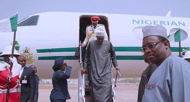 Buhari Arrives Abuja After AU Summit