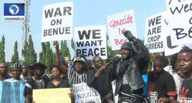 Benue Residents Take Protest To National Assembly