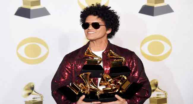 Bruno Mars Surprises With Grammy Awards Sweep