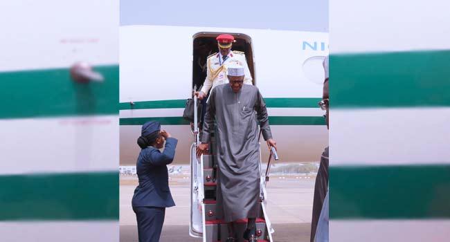 Buhari Arrives In Abuja After AU Summit
