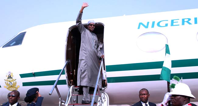 PHOTOS: President Buhari Travels To Addis Ababa