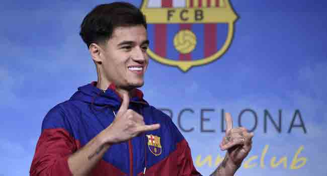 Injured Coutinho Out For Two Weeks – Barcelona