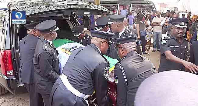 Photos: Alex Ekwueme's Remains At His Enugu Residence