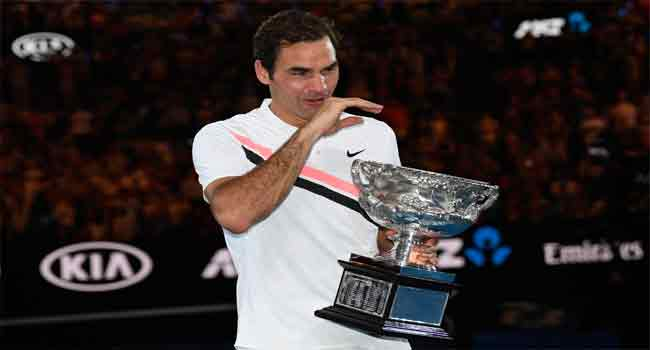 Federer Credits Wife For Keeping Him Going