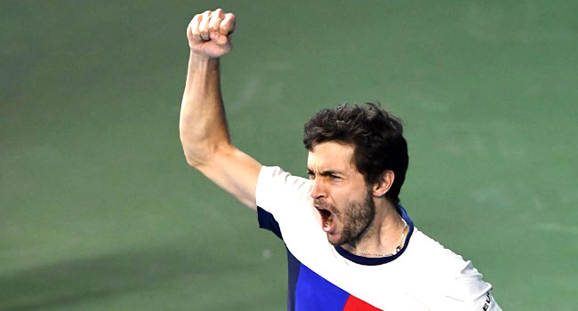 France's Simon Wins First ATP Title Since 2015