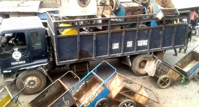 Lagos Govt Arrests 30 Cart Pushers
