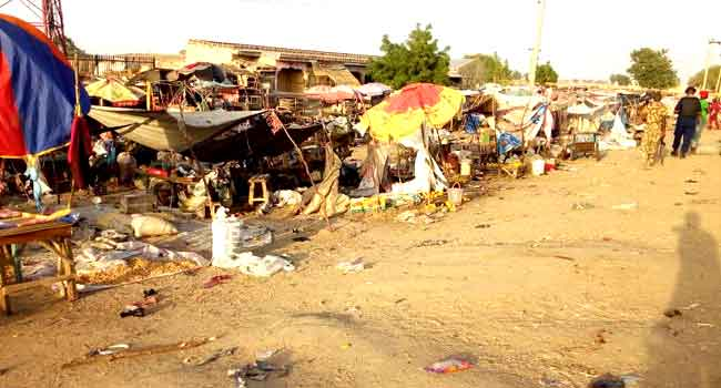 12 Feared Killed As Suicide Bombers Attack Maiduguri Market