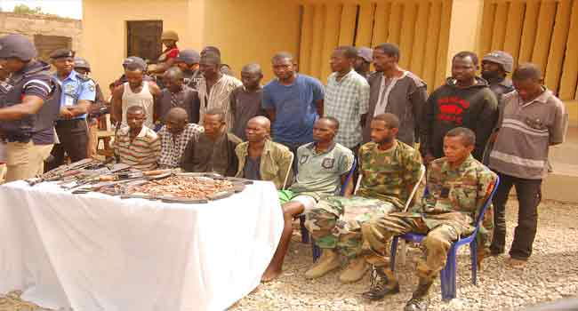 Police Parade 16 Suspected Armed Robbers, Kidnappers