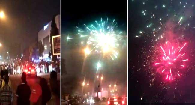 Nigerians Welcome 2018 With Fireworks, Celebration