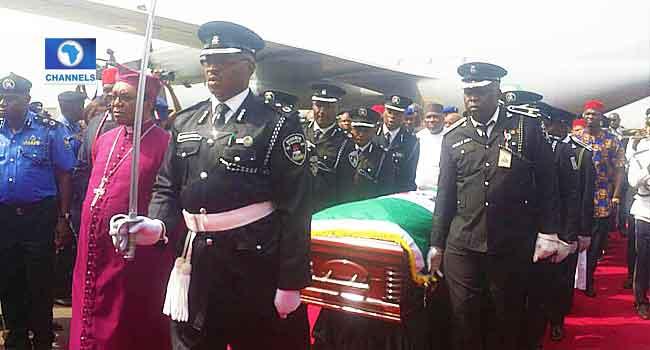 Photos: Alex Ekwueme's Remains Arrive In Nigeria