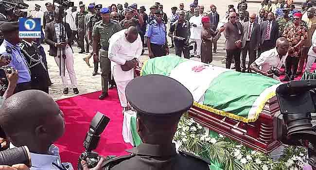 Ugwuanyi, Others Pay Last Respect To Ekwueme