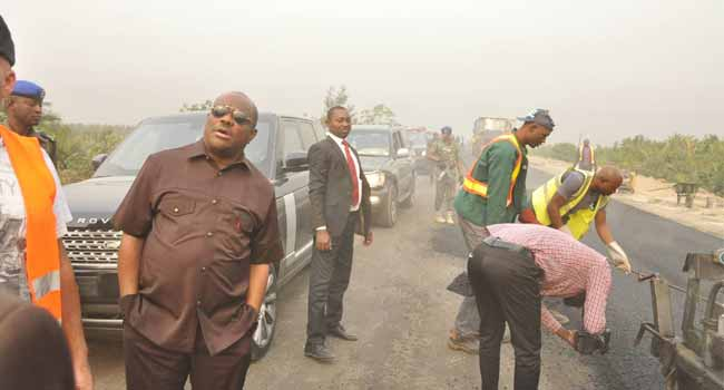 Image result for Wike pledges to complete projects in Rivers