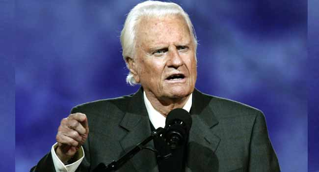U.S. Evangelist, Billy Graham, Dies At 99