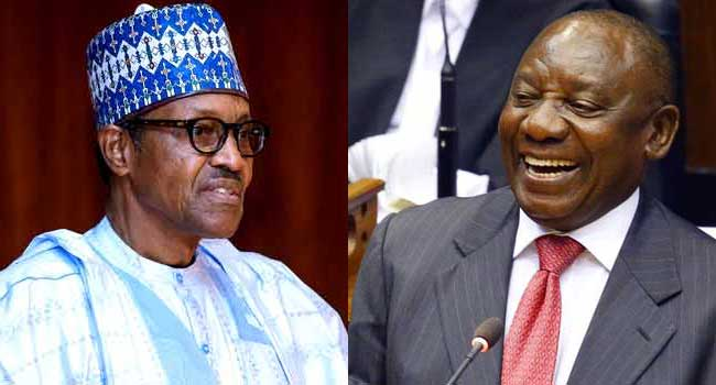 South African President Congratulates President Buhari On His Re-Election