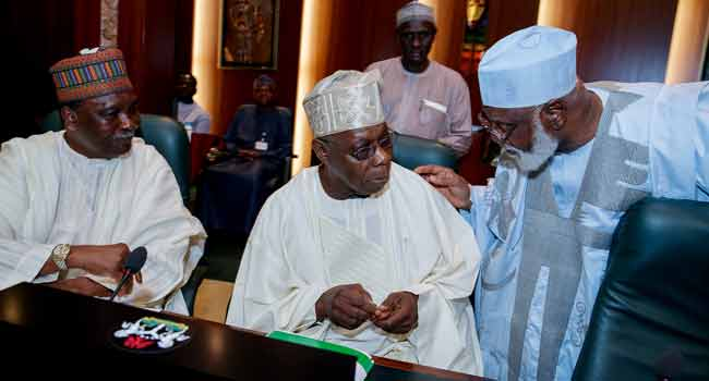 Obasanjo, Abdulsalami, Others Attend Council Of State Meeting