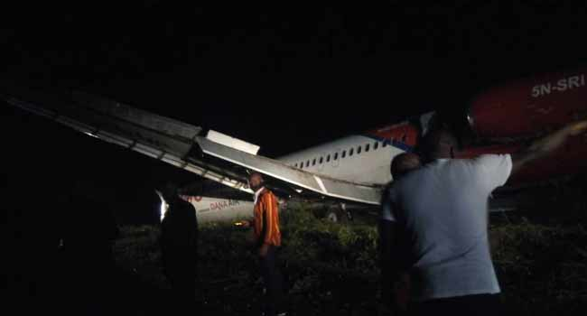 Dana Air Plane Overshoots Runway In Port Harcourt