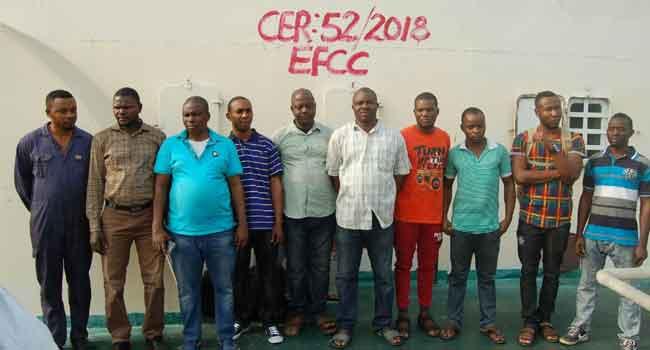 EFCC Quizzes 10 Suspected Oil Thieves