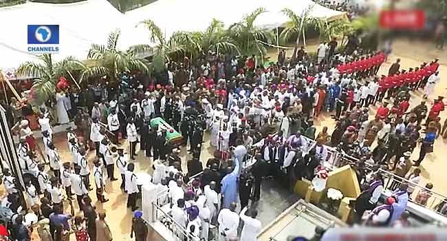 Former VP Ekwueme Buried Amid Tributes
