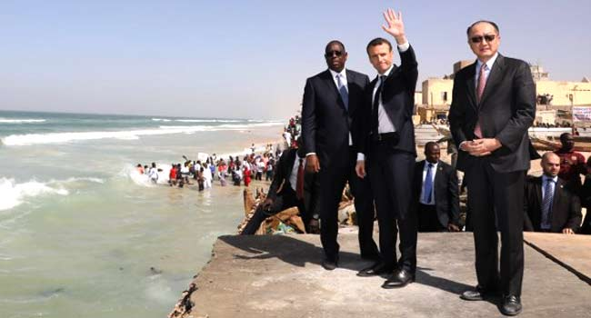 Macron Pledges Aid For Senegal' Saint-Louis Threatened By Atlantic