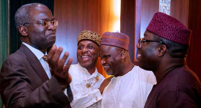 Fashola, Amaechi, Other Ministers At FEC Meeting
