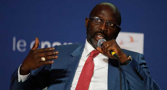 Weah says he 'inherited a broke country'