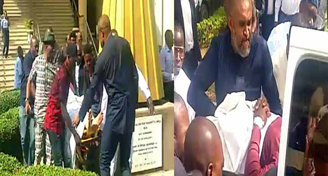 Olisa Metuh Appears In Court On Stretcher