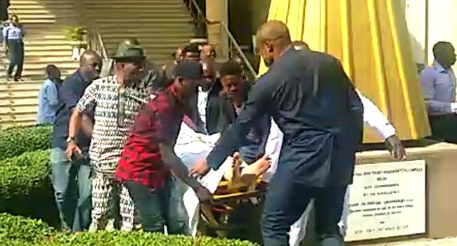 Metuh Brought To Court On A Stretcher