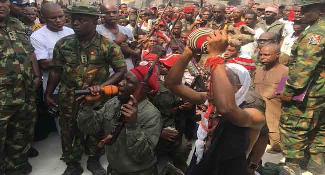 Over 200 Militants Repent, Surrender Arms In Imo