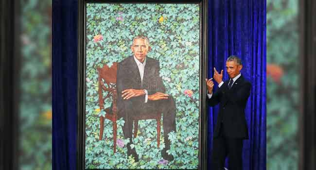 Obama Reveals Unconventional Portrait By Nigerian Painter