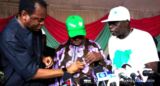 Coalition For Nigeria: Duke, Oyinlola Witness Obasanjo's Registration