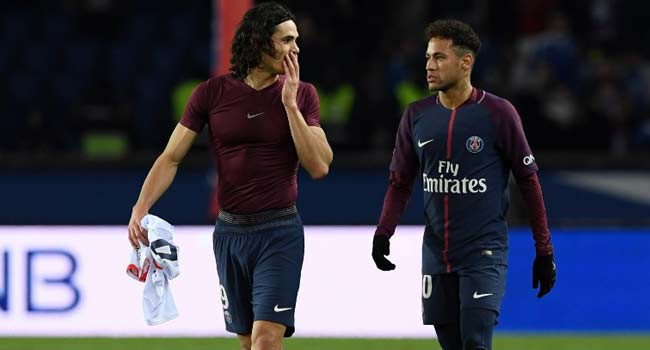 Cavani, Neymar Strike As PSG Recover From Madrid Defeat