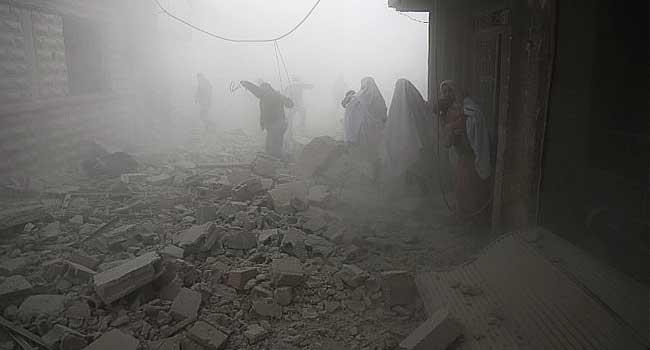 Syria Strikes Kill 28 Civilians In Rebel Area Near Damascus