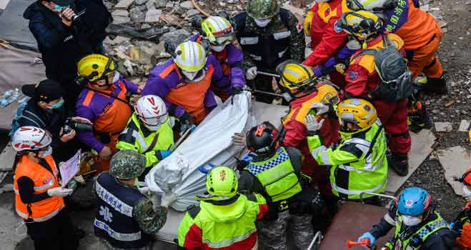 Toll In Taiwan Quake Rises To 14 As Rescuers Pull Out More Bodies