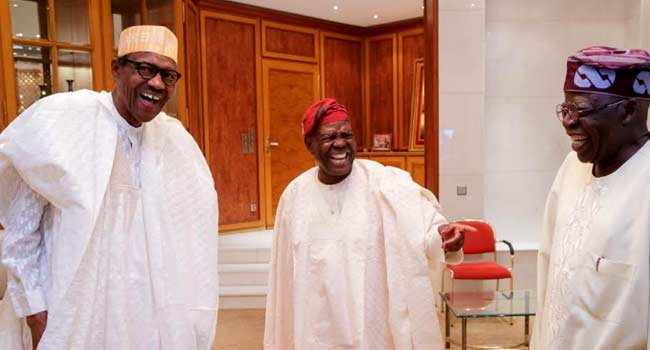 Buhari Meets With Tinubu, Akande