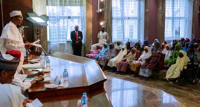 Pursue Your Dreams Without Fear, Buhari Tells Dapchi Schoolgirls