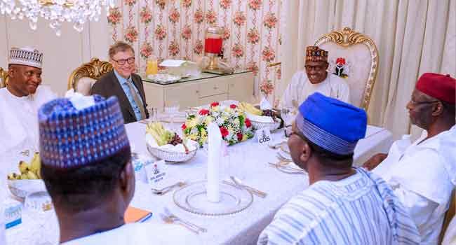 President Buhari Hosts Bill Gates, Dangote To Dinner