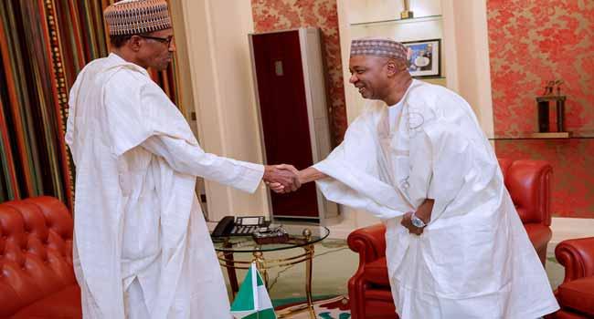 Former VP Sambo Keeps Mum After Meeting With Buhari